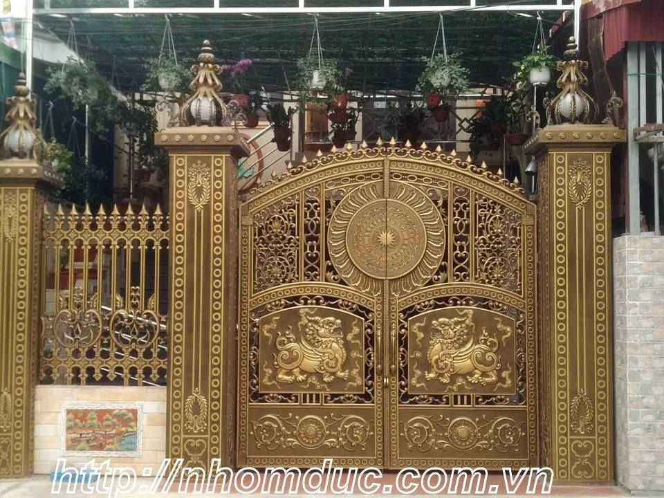 12 mẫu cổng nhôm đúc đẹp