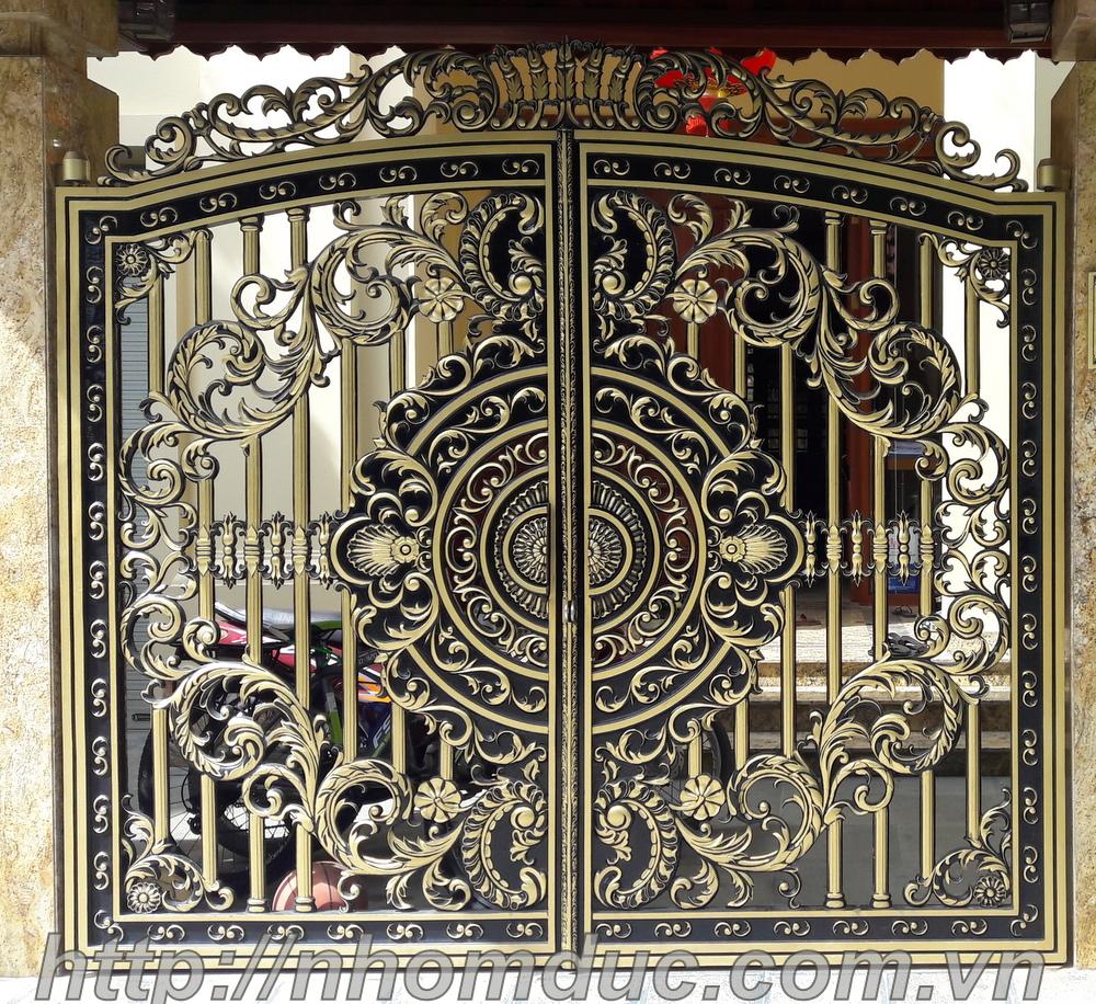 Cổng nhôm đúc biệt thự tại Quảng Bình, Cổng nhôm đúc Fuco, cổng nhôm đúc giá rẻ tỉnh Quảng Bình, cổng nhôm đúc