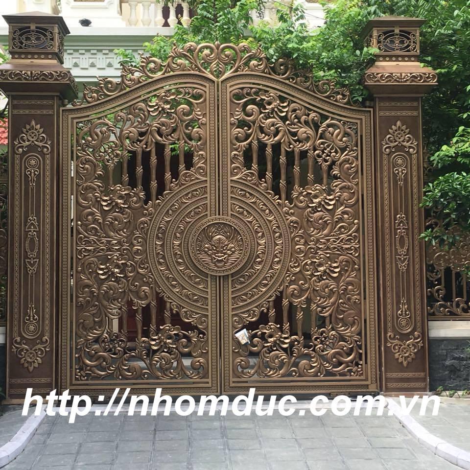 Những mẫu cổng nhôm đúc