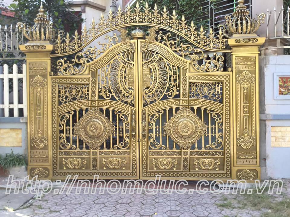 Chuyên thi công, thiết kế mẫu cổng nhôm đúc đẹp sang trọng