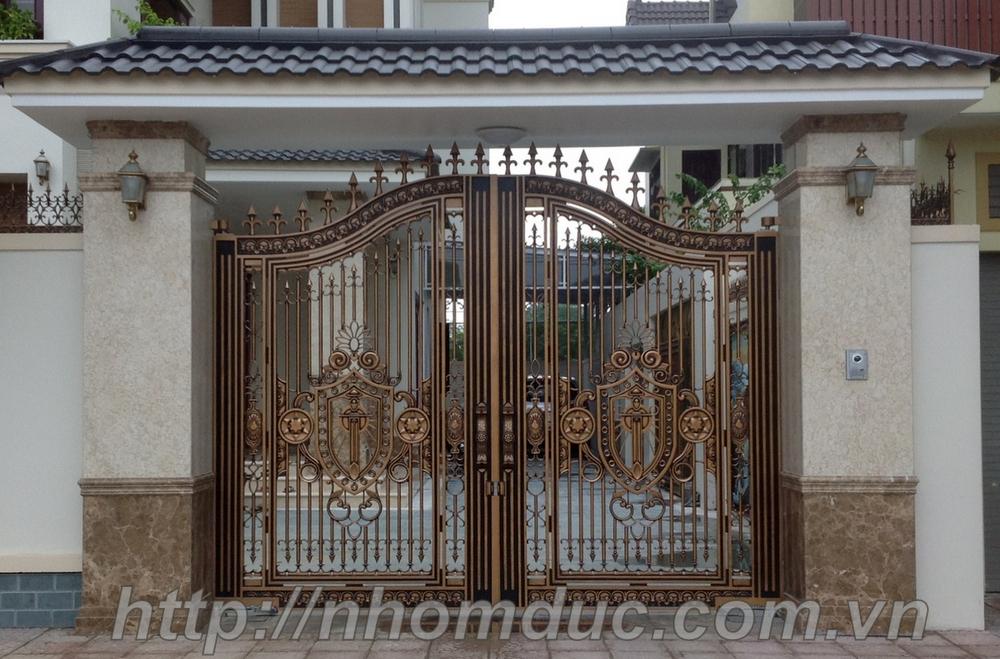 Bộ sưu tập các mẫu cổng nhôm đúc đẹp
