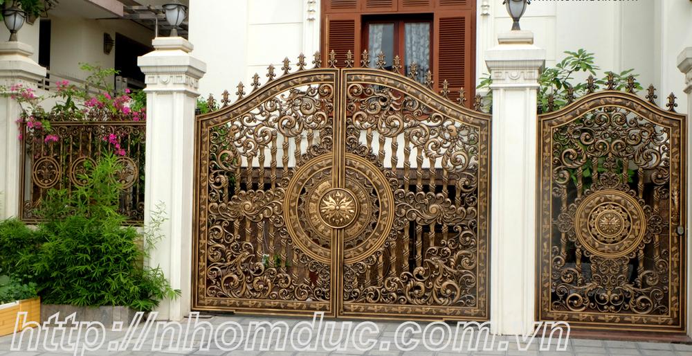 Cửa cổng nhôm đúc hợp kim đẹp nhất