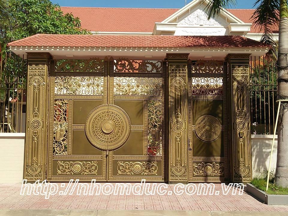 20 mẫu tuyệt sắc cửa cổng, lan can hàng rào nhôm đúc màu đồng