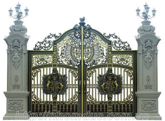 Mẫu cửa cổng nhôm đúc GAT 134