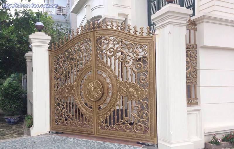 Báo giá cổng nhôm đúc - Giá cổng nhôm đúc 10.500.000VNĐ