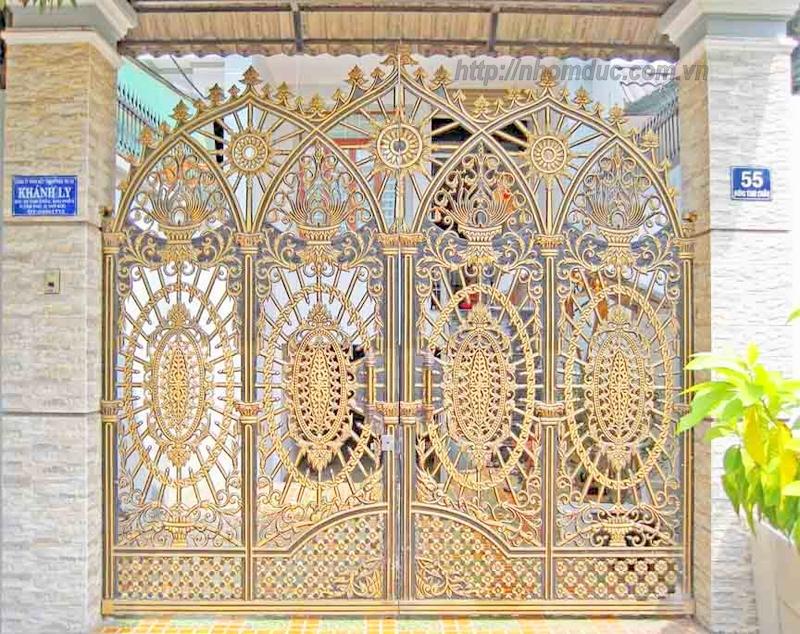 Mẫu cửa nhôm đúc GAT 101, cửa cổng nhôm đúc Fuco mẫu mã đẹp, sản xuất công nghện Nhật Bản, sơn tĩnh điện cao cấp. Cửa nhôm đúc chất lượng cao