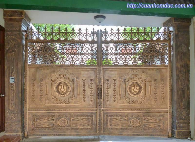 Báo giá cổng nhôm đúc kín -  Giá cổng nhôm đúc  thoáng 11.500.000VNĐ