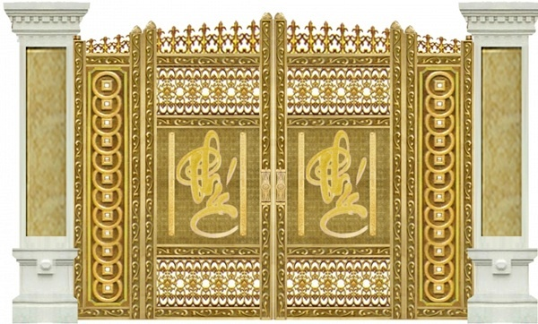 Cửa cổng nhôm đúc, Cửa cổng nhôm đúc tại Bắc Giang, Lắp đặt cổng nhôm đúc, sản phẩm Cổng biệt thự