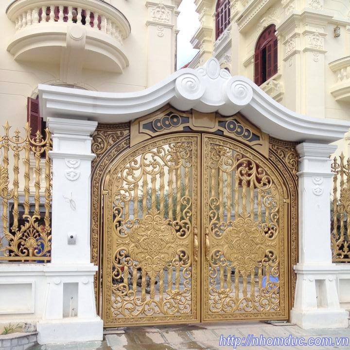 Cổng cửa hợp kim nhôm đúc Hà Nội Cổng cửa hợp kim nhôm đúc Hà Nội Mẫu cổng cửa nhôm Đúc 1