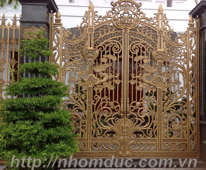 Thiết kế cổng nhôm đúc tại Hải Phòng