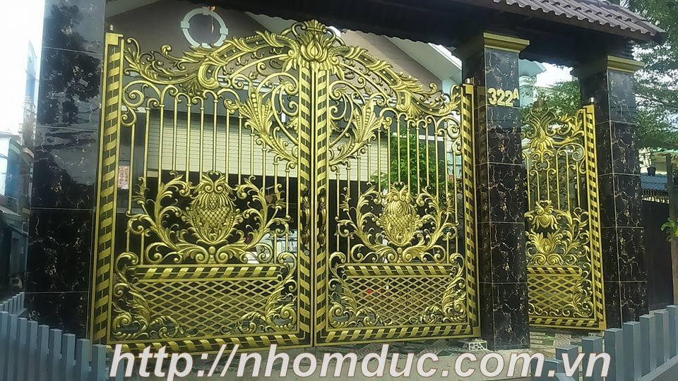 Thi công cổng nhôm đúc tại Hải Phòng