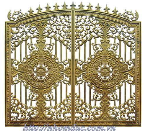 cổng cửa nhôm đúc hợp kim chất liệu nhôm nhập khẩu với chất lượng sơn cao cấp nổi tiếng