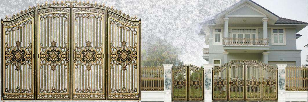 Cửa nhôm đúc tân cổ điển, Cửa cổng là một bộ phận không thể thiếu của ngôi nhà, đặc biệt là những ngôi nhà có kiến trúc độc đáo.