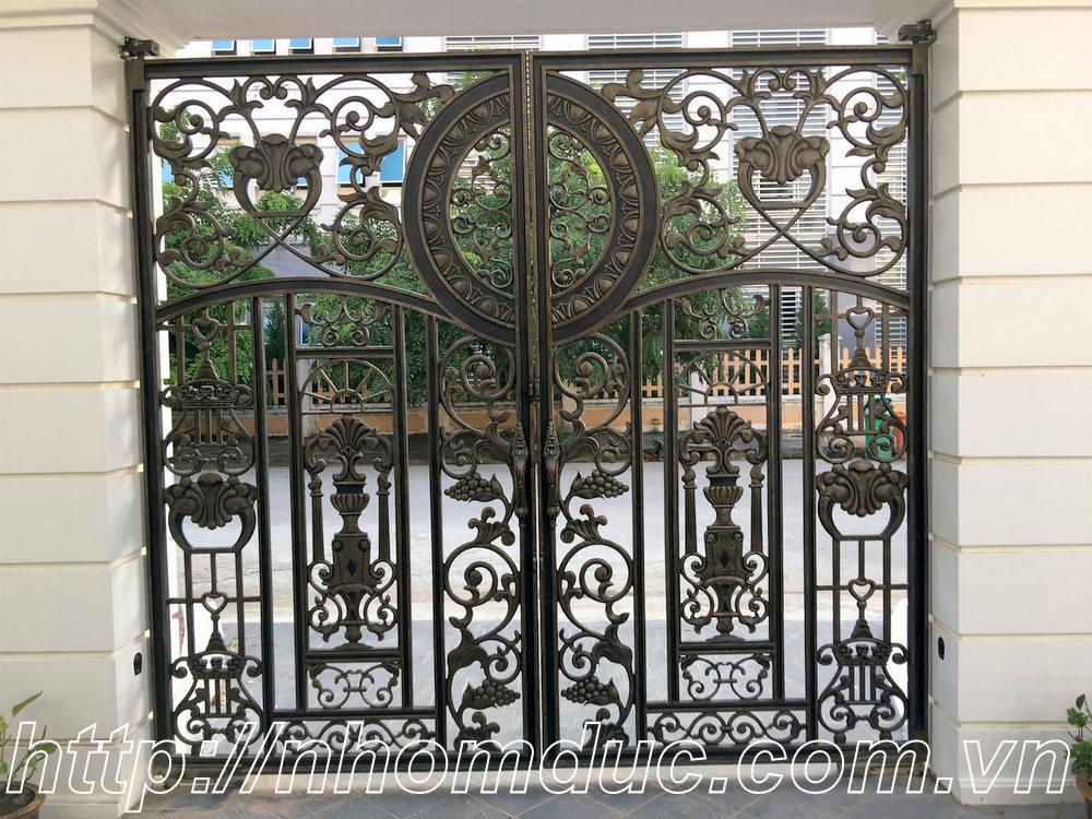 Nhận thi công cửa cổng đúc hợp kim nhôm tại Hà Nội