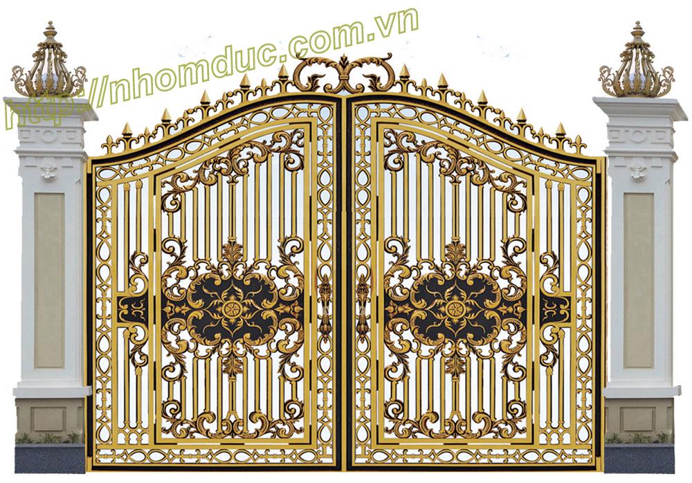 Cửa cổng nhôm đúc GAT, Nhôm đúc Hà Nội