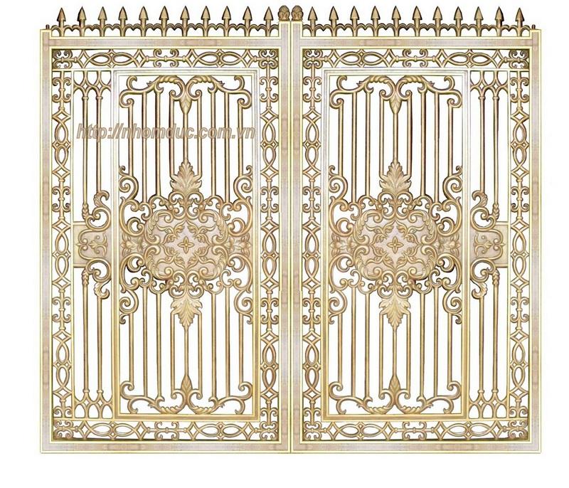 Cửa cổng nhôm đúc, Cửa cổng nhôm đúc,  Lắp đặt cổng nhôm đúc, sản phẩm Cổng biệt thự