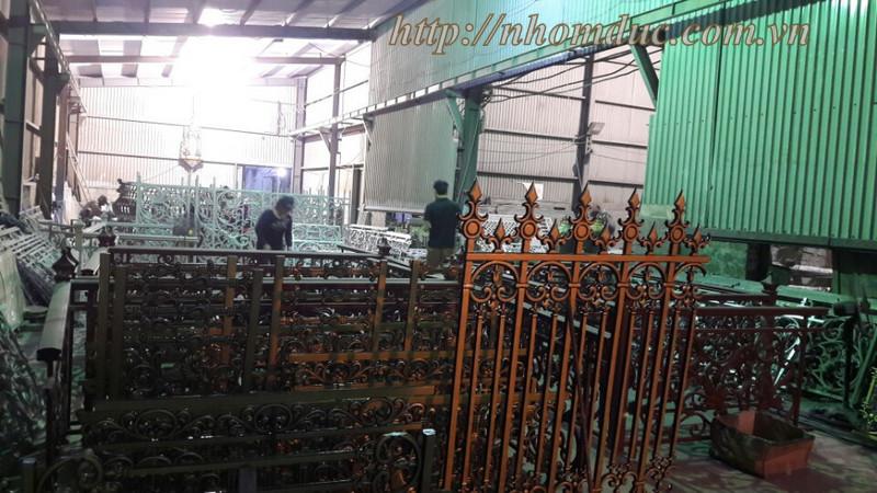 Thi công nhôm đúc tại Nam Định, nhà máy nhôm đúc, kho để hàng