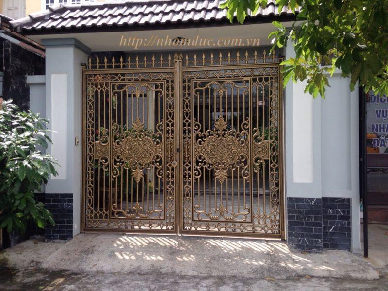 Cổng nhôm đúc GAT 128 - Cổng biệt thự đẹp, nhôm đúc Hà Nội, nhôm đúc biệt thự, sản xuất công nghệ Nhật Bản, sơn tĩnh điện cao cấp, nhôm đúc chất lượng.