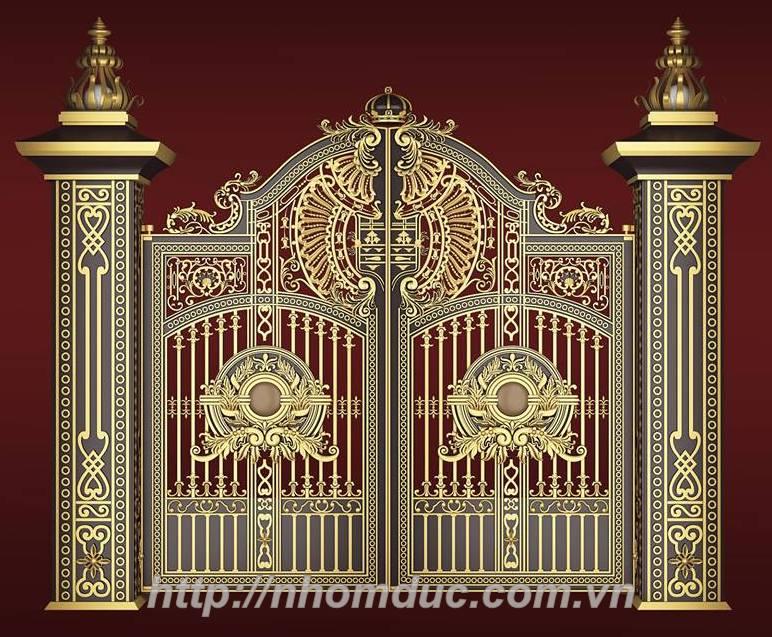 cửa nhôm đúc, cổng biệt thự, cổng hợp kim nhôm.