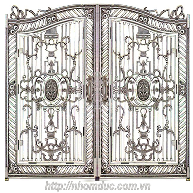 Mẫu cửa cổng nhôm đúc GAT 141