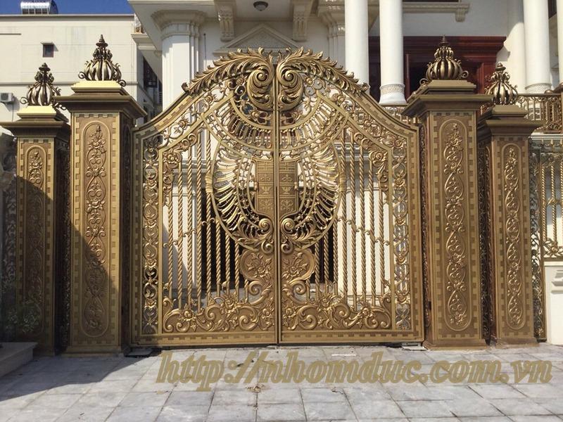 Bán cổng nhôm đúc giá tốt nhất chất lượng đảm bảo