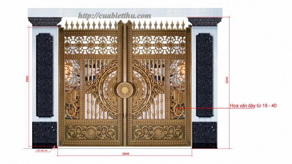 Mẫu cửa nhôm đúc GAT 105