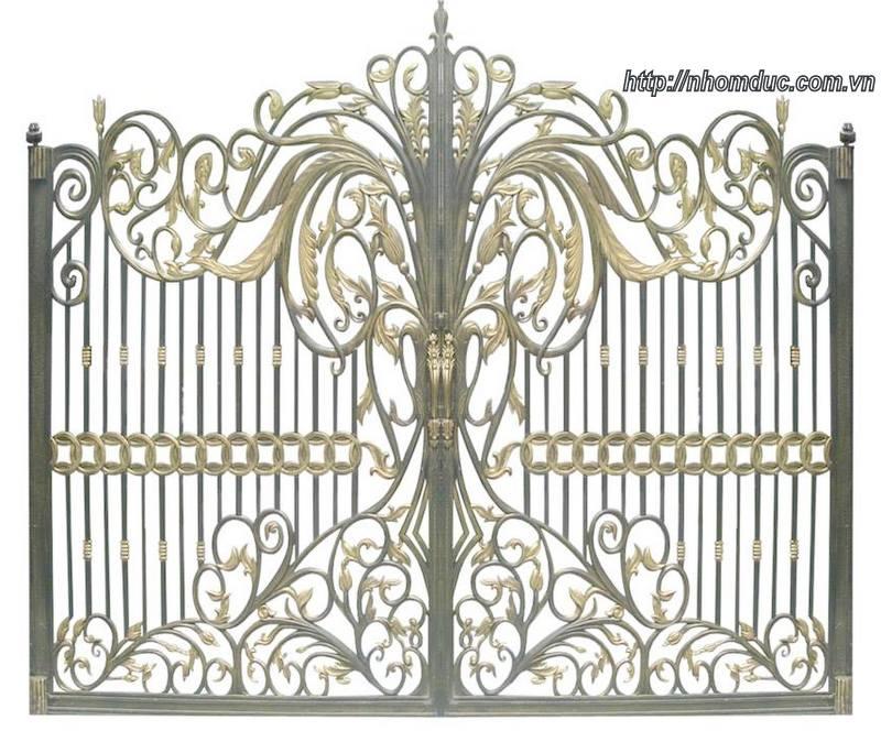 Mẫu cửa cổng nhôm đúc GAT 148