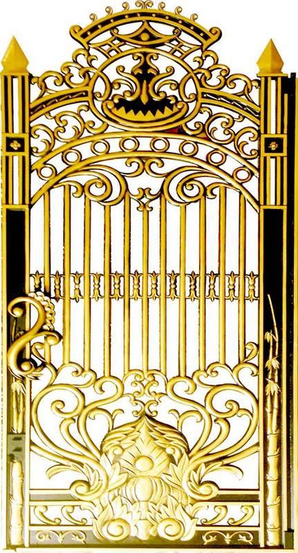 Mẫu cửa nhôm đúc GAT 101, nhôm đúc Fuco, cửa nhôm đúc, cổng nhôm đúc