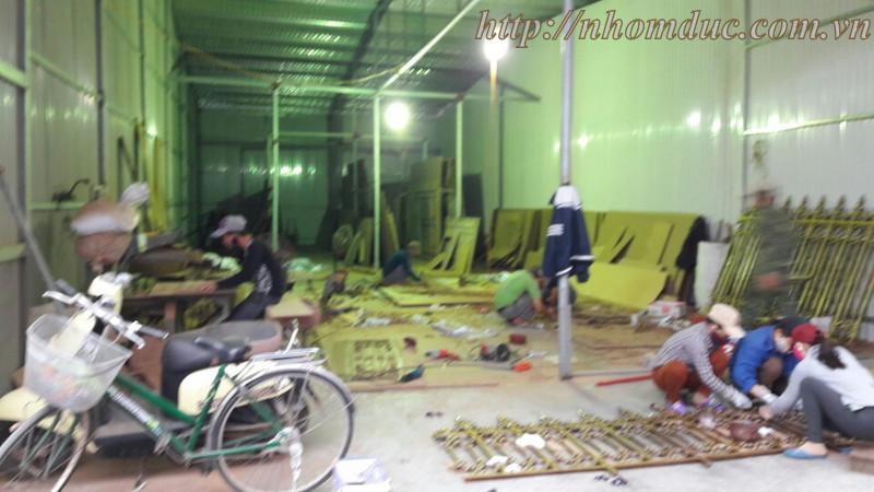 Thi công nhôm đúc tại Nam Định, phòng đúc tạo mẫu gỗ