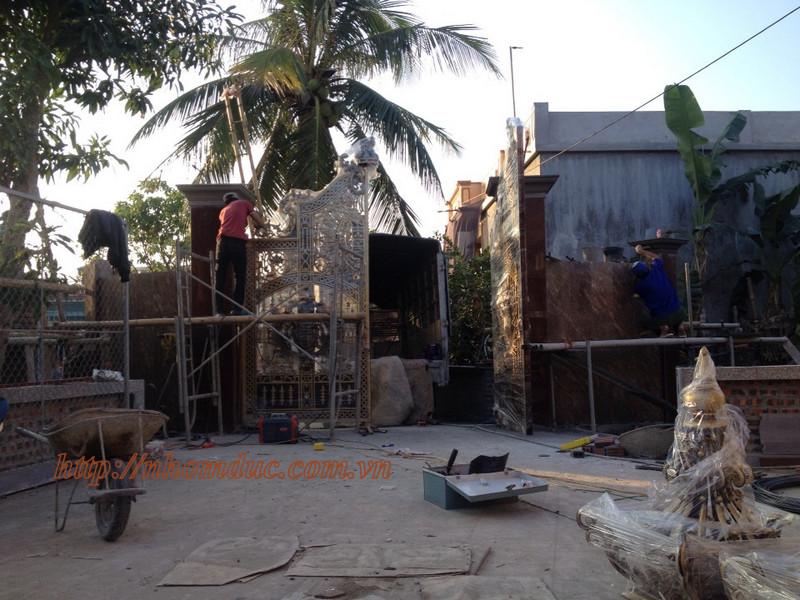Quy trình sản xuất cổng nhôm đúc và lắp đặt nhôm đúc Fuco