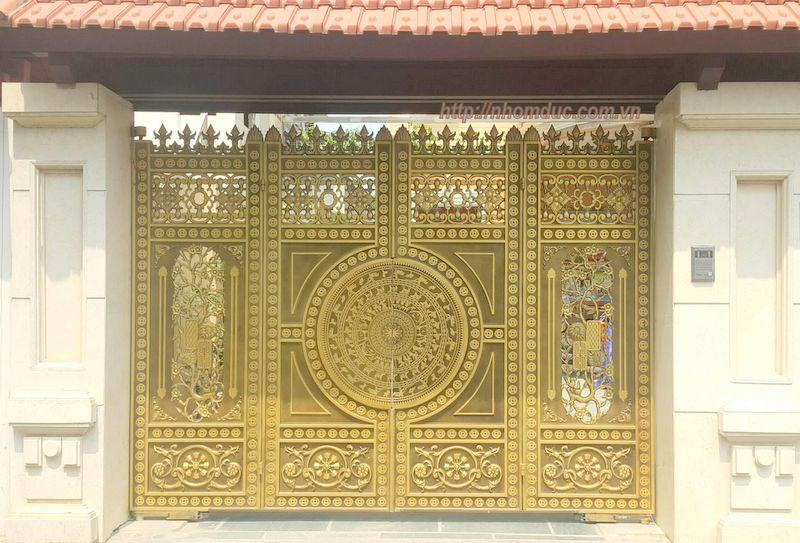 Cổng cửa hợp kim nhôm đúc, sản phẩm cửa cổng nhôm đúc Fuco