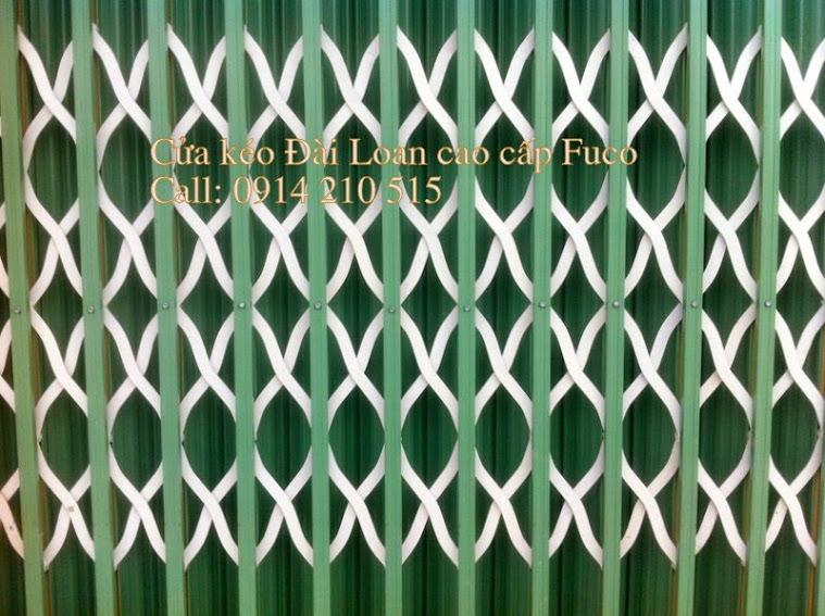 Cửa xếp Đài Loan nan đúc Fuco