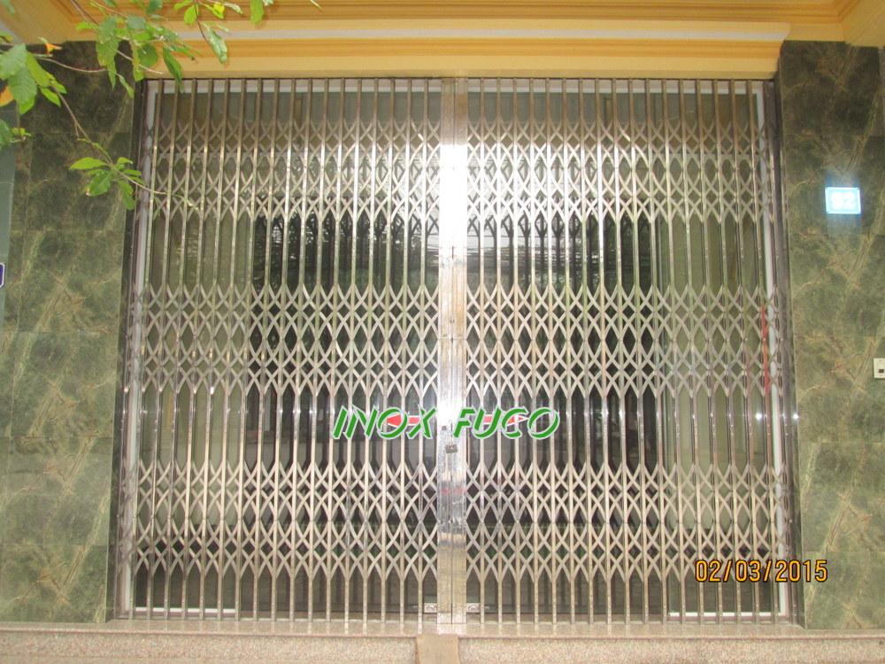 Thi công và lắp đặt cửa xếp INOX tại Hà Nội, cung cấp cho các Đại lý bán hàng