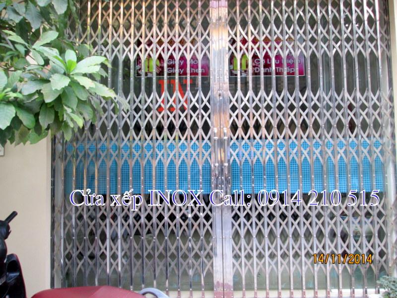 Cửa xếp INOX biệt thự Fuco