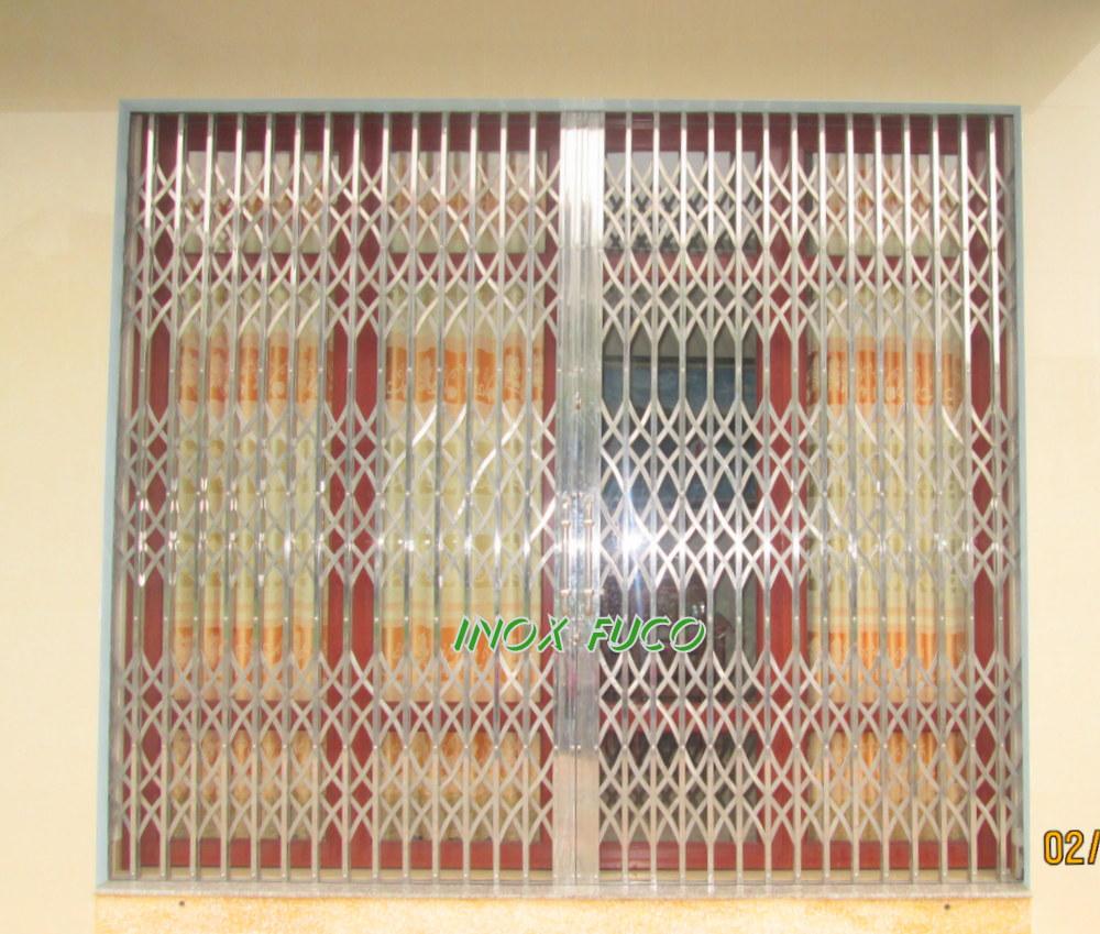 Cửa xếp INOX hộp, Cửa xếp INOX được sản xuất bởi thợ cơ khí Nam Định, có nghề ... Chúng tôi khuyến cáo khách đến trực tiếp xưởng sản xuất