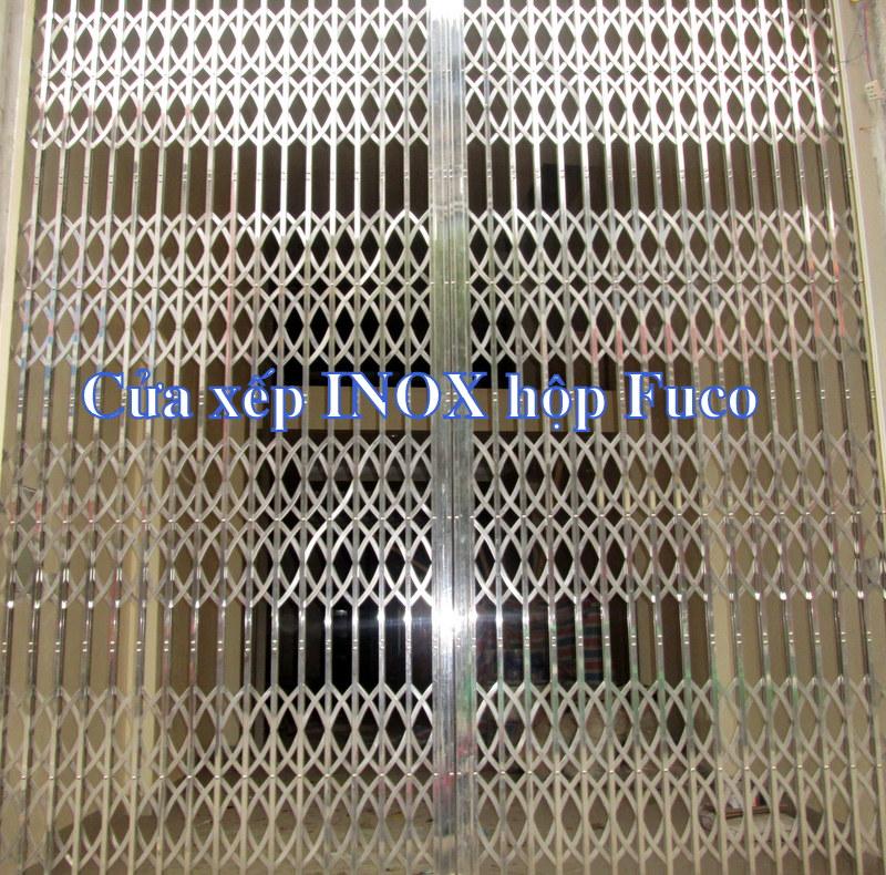 Bảng giá cửa xếp INOX Fuco - Cua xep Biet Thu