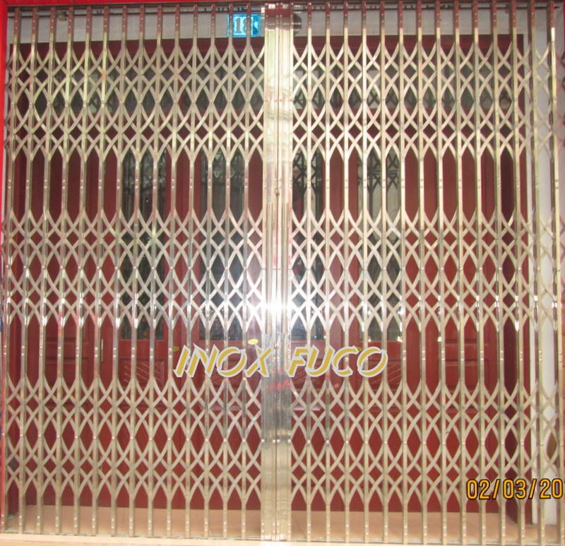 Fuco chuyên sản xuất Cửa xếp INOX Đài Loan, Cửa xếp INOX hộp, cửa xếp