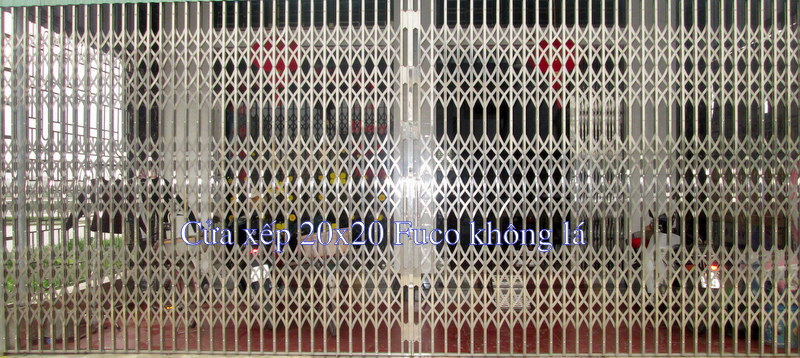 Cửa xếp INOX chống trộm Fuco