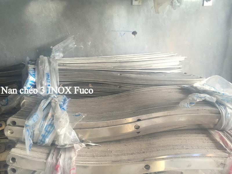 Bảng giá cửa xếp INOX Fuco, nan chéo cửa xếp inox