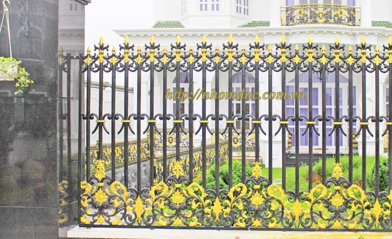 Hàng rào nhôm đúc hợp kim