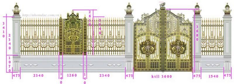 cổng nhôm đúc, hàng rào nhôm đúc, ban công nhôm đúc