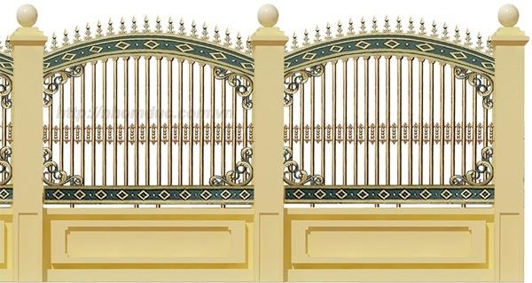 Cửa cổng hàng rào nhôm đúc, Hàng rào nhôm đúc hợp kim