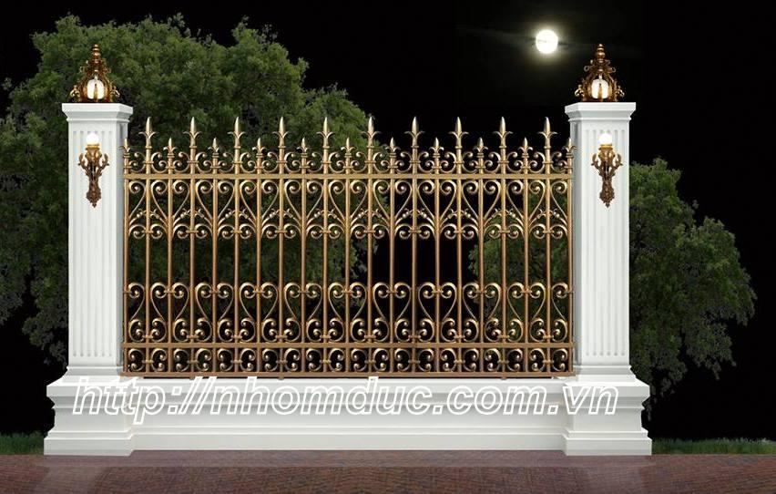 Hàng rào nhôm đúc biệt thự
