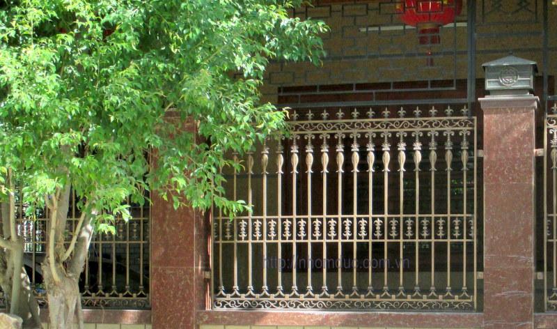 Hàng rào nhôm đúc tại Hà Nội.