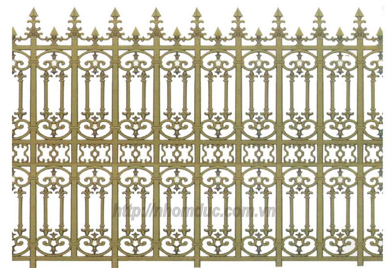 Hàng rào nhôm đúc hợp kim HR 117