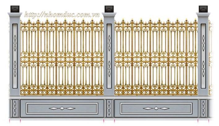 Hàng rào hợp kim nhôm đúc, Hàng rào nhôm đúc