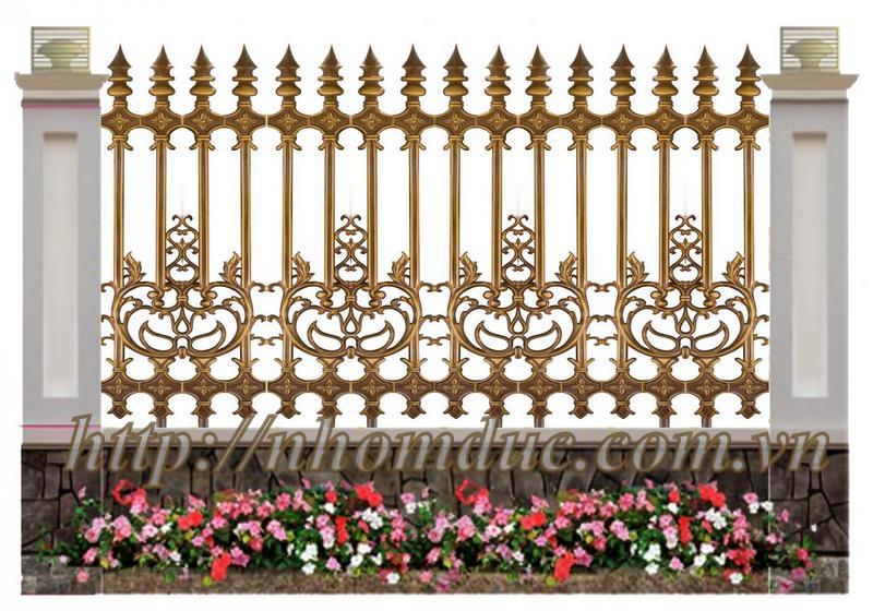 Hàng rào nhôm đúc biệt thự, hàng rào nhôm đúc được làm từ 96% nhôm