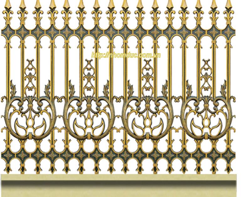 Hàng rào nhôm đúc hợp kim HR 120