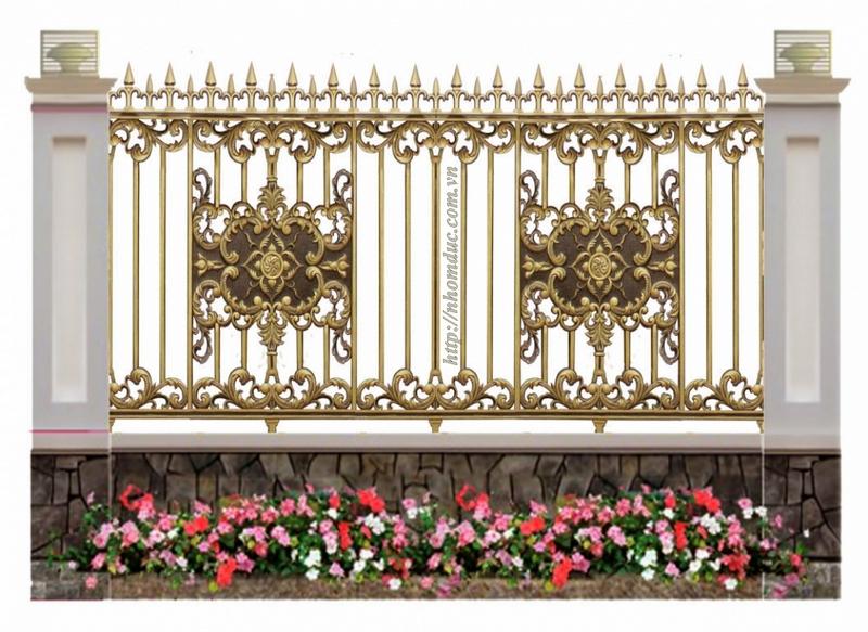 Cửa cổng hàng rào nhôm đúc , Hàng rào nhôm đúc hợp kim