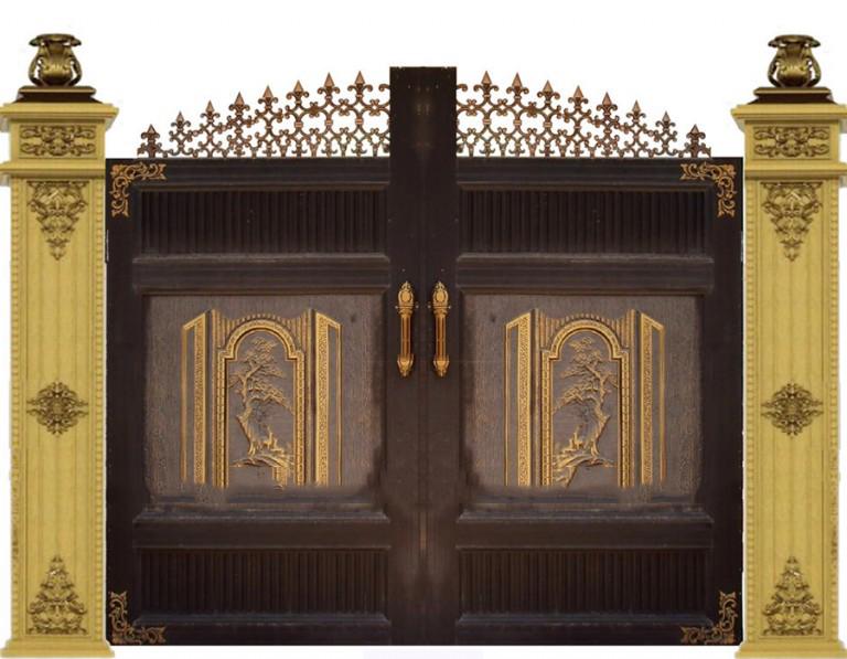Cổng nhôm đúc Hạnh Phúc Đơn Giản